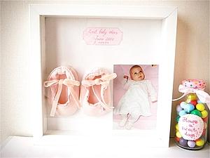 Памятная рамочка с первой обувью малыша | Ярмарка Мастеров - ручная работа, handmade