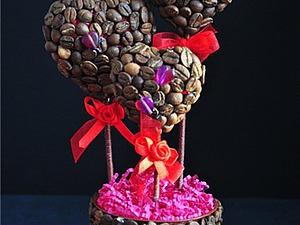 Кофейное дерево «Валентинка». Ярмарка Мастеров - ручная работа, handmade.