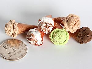 Мороженое из полимерной глины | Ярмарка Мастеров - ручная работа, handmade