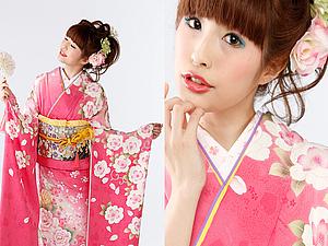 Нарядные японские кимоно и украшения в прическу | Ярмарка Мастеров - ручная работа, handmade