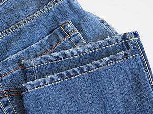 Как подшить джинсы, оставив производственные потертости. Ярмарка Мастеров - ручная работа, handmade.