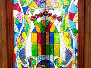 Как сделать витражное окно на даче своими руками. Ярмарка Мастеров - ручная работа, handmade.