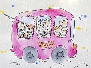 Рисуем для детей и с детьми: создаем простую иллюстрацию. Ярмарка Мастеров - ручная работа, handmade.