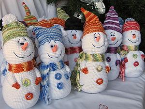 Снеговички для Новогоднего настроения!) | Ярмарка Мастеров - ручная работа, handmade