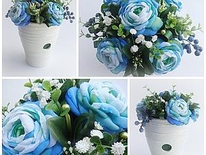Мини-урок: создаем цветочную композицию. Ярмарка Мастеров - ручная работа, handmade.