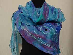 Валяем на шёлке   летний  шарфик (новичкам)   Ярмарка Мастеров - ручная работа, handmade