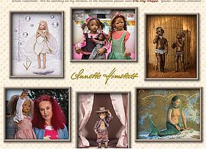 Коллекционные куклы Аннет Химштедт | Ярмарка Мастеров - ручная работа, handmade