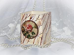 Имитация мрамора. Карандашница | Ярмарка Мастеров - ручная работа, handmade