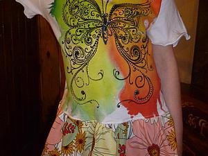 Превращаем футболку в модное яркое летнее платье для девочки!. Ярмарка Мастеров - ручная работа, handmade.