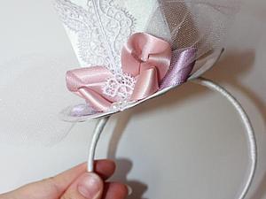Мини-шляпка своими руками. Ярмарка Мастеров - ручная работа, handmade.