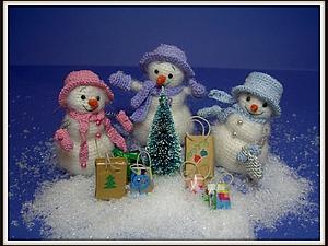 Весёлые снеговички. Мастер-класс.. Ярмарка Мастеров - ручная работа, handmade.