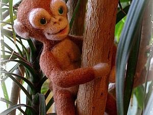 Валяем забавную обезьянку на каркасе. Ярмарка Мастеров - ручная работа, handmade.
