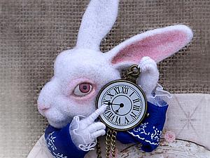 Создаем брошь «Белый кролик». Ярмарка Мастеров - ручная работа, handmade.