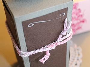 Упаковка своими руками - коробочка для трех предметов.. Ярмарка Мастеров - ручная работа, handmade.