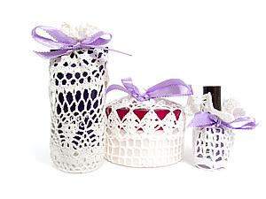 Подарочных сумочки вязаные крючком, handmade