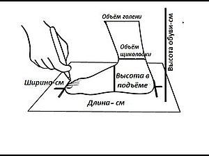 Как правильно снять мерки стопы | Ярмарка Мастеров - ручная работа, handmade
