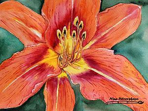 Пишем цветок акварелью. Ярмарка Мастеров - ручная работа, handmade.