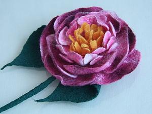 МК по валянию объемного цветка. | Ярмарка Мастеров - ручная работа, handmade