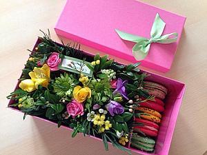 Композиция с цветами на 8 марта.   Ярмарка Мастеров - ручная работа, handmade