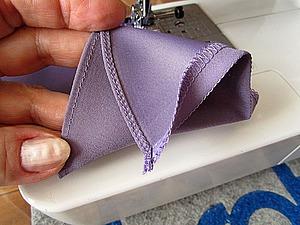 Узкая, изящная подгибка края изделия из тонких плательных тканей. | Ярмарка Мастеров - ручная работа, handmade