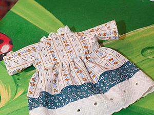 Шьем съемное платье для куклы. Ярмарка Мастеров - ручная работа, handmade.