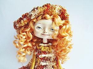 Сувенирная кукла. Клеим волосы. | Ярмарка Мастеров - ручная работа, handmade