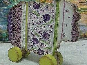 «Нежная овечка» деревянная игрушка-овечка СКИДКА! | Ярмарка Мастеров - ручная работа, handmade