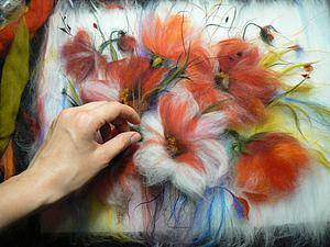 Рисуем шерстью картину «Подарок весны». Ярмарка Мастеров - ручная работа, handmade.