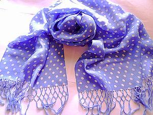 Батистовый шарфик с бахромой | Ярмарка Мастеров - ручная работа, handmade