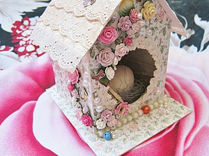 "Create Easter interior decoration ""Birdhouse"""