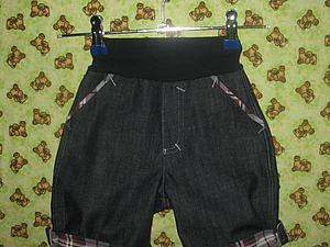 Шьем джинсовые брючки для малыша. Ярмарка Мастеров - ручная работа, handmade.