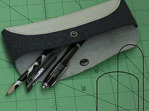 Изготавливаем простой пенал для ручек и рукодельных инструментов. Ярмарка Мастеров - ручная работа, handmade.