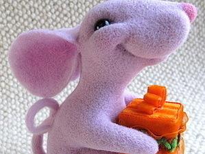 Мастер-класс по валянию мышки из шерсти. | Ярмарка Мастеров - ручная работа, handmade