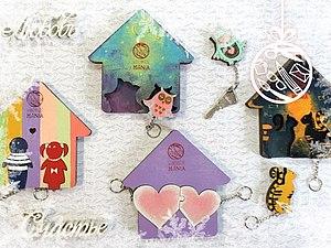 Прекрасные ключницы к новому году. Роспись по дереву | Ярмарка Мастеров - ручная работа, handmade