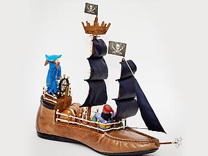 Как сделать корабль из ботинка. Ярмарка Мастеров - ручная работа, handmade.