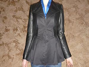 Преображение старой кожаной куртки в куртку с баской | Ярмарка Мастеров - ручная работа, handmade
