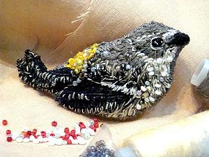 Вышиваем с бисером брошь «Воробушек». Ярмарка Мастеров - ручная работа, handmade.