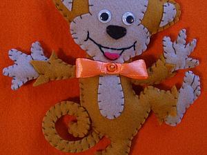 Шьем веселую обезьянку из фетра. Ярмарка Мастеров - ручная работа, handmade.