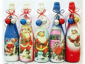 Новогодние шампанское | Ярмарка Мастеров - ручная работа, handmade