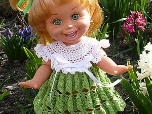 Описание платья подснежник для кукол типа Galoob Baby Face | Ярмарка Мастеров - ручная работа, handmade