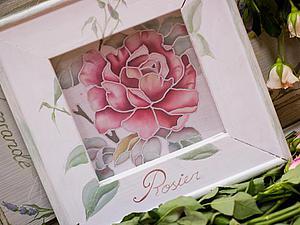 Мастер-класс  Шелковая миниатюра - English rose | Ярмарка Мастеров - ручная работа, handmade