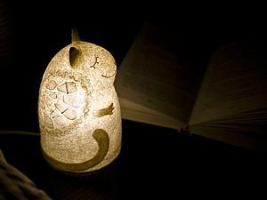 Мастерим войлочный светильник «Ангельский кот». Ярмарка Мастеров - ручная работа, handmade.