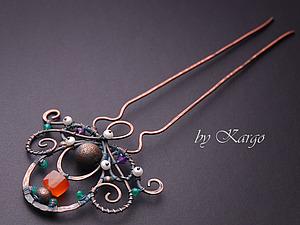 МК по wire wrap (шпилька) | Ярмарка Мастеров - ручная работа, handmade