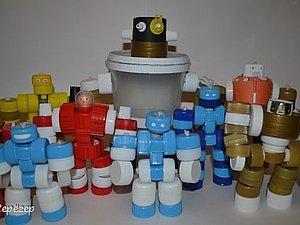 Варианты ёлочных игрушек из крышек. Ярмарка Мастеров - ручная работа, handmade.