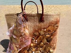 "Пляжная сумка ""Море зовет"". Ярмарка Мастеров - ручная работа, handmade."