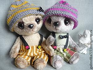 Веселые и милые мишки Тедди по хорошей цене на аукционе | Ярмарка Мастеров - ручная работа, handmade