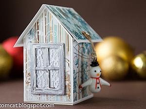 Новогодний домик-шкатулка | Ярмарка Мастеров - ручная работа, handmade