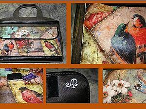 Декупажный пэчворк: декорируем сумку для ноутбука, handmade