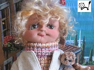 Текстильная кукла Аццо (Митенька)   Ярмарка Мастеров - ручная работа, handmade