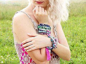 Новая коллекция летних ярких бохо браслетов. | Ярмарка Мастеров - ручная работа, handmade